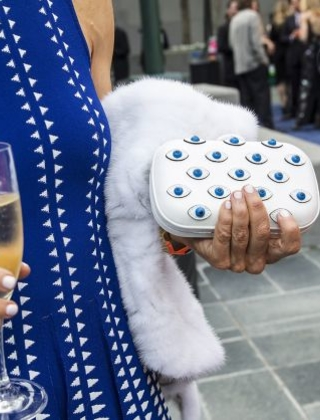 Shelley Gordon carried a clutch inspired by surrealist artist Salvador Dali to attend SFMOMA's Modern Ball at Yerba Buena Center for the Arts in San Francisco, Calif., on Wednesday, April 30 2014. Photo: Laura Morton, Special To The Chronicle